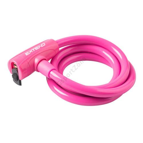 Kerékpár zár Extend COMPANION 12*1200mm, rózsaszín